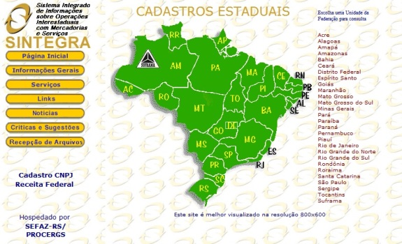 447585 Inscrição estadual consulta www.sintegra.gov .br 2 Inscrição estadual consulta   www.sintegra.gov.br