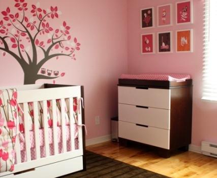 447649 Decoração infantil marrom e rosa 11 Decoração infantil marrom e rosa