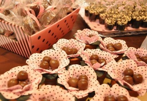 447649 Decoração infantil marrom e rosa 3 Decoração infantil marrom e rosa