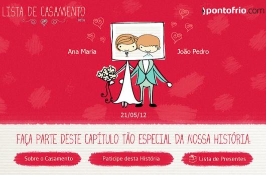 452622 Pontofrio.com 1 Listas de casamento Ponto Frio no Facebook