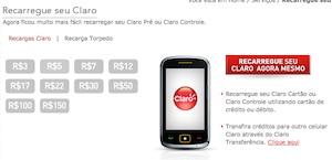 45278 recargaonline claro1 Recarga de Celular Claro, Oi, Tim, Vivo: Recarregar Online
