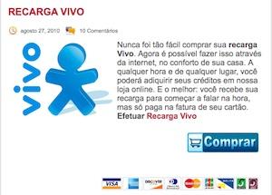 45278 recargavivo online2 Recarga de Celular Claro, Oi, Tim, Vivo: Recarregar Online