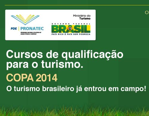 453135 pronatec copa 2014 Pronatec Copa 2014 Cursos Gratuitos, www.pronateccopa.turismo.gov.br