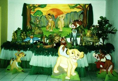 453955 Decoração de festa infantil tema Rei Leão 2 Decoração de festa infantil tema Rei Leão