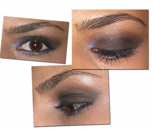 455144 Tutorial+Maquiagem+Preta+Violeta+Noite+Versace+Adaptada+Olho+Sombra+Sobrancelha+5 Maquiagem para usar a noite, passo a passo