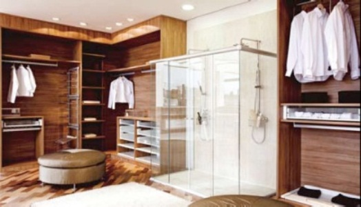 455204 Do banho para o closet Integração de quarto e banheiro: dicas