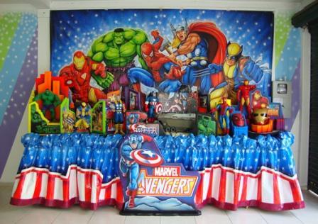 455338 festa infantil os vingadores 5 Decoração Os Vingadores Para Festa de Aniversário