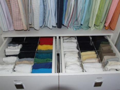 Como organizar gavetas de roupa