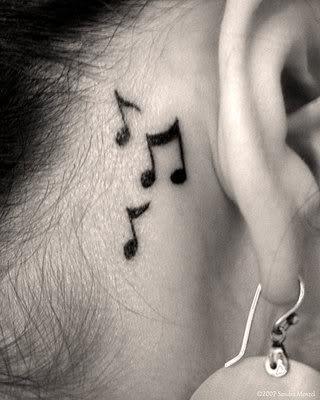 460797 Tatuagem de notas musicais 04 Tatuagem de notas musicais