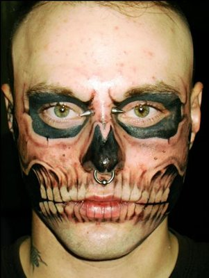 462979 Tatuagem no rosto 03 Tatuagem no rosto: fotos