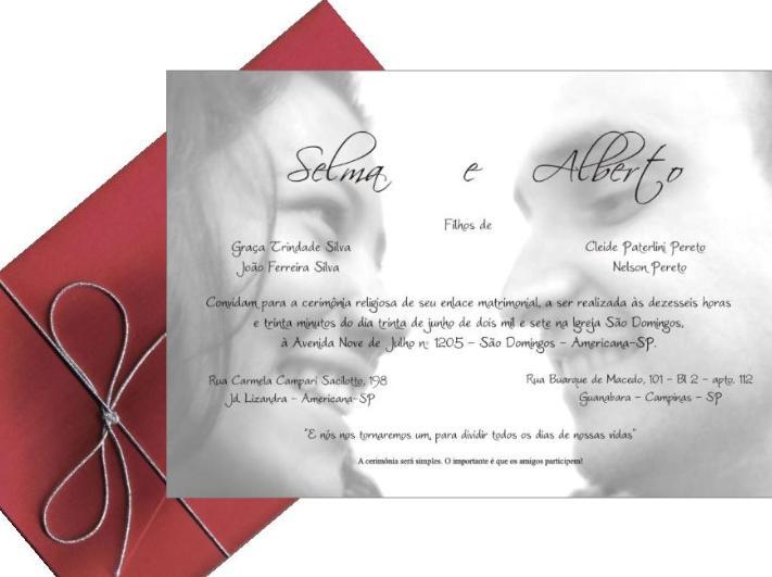 465998 convite com foto dos noivos Convites de Casamento Barato e Bonito   Como Fazer