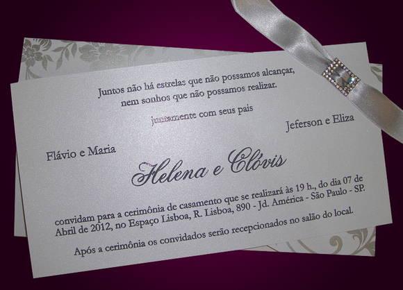 465998 convite de casamento elegante e moderno Convites de Casamento Barato e Bonito   Como Fazer