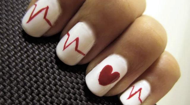 466402 Unhas decoradas com corações dicas fotos1 Unhas decoradas com corações: dicas, fotos