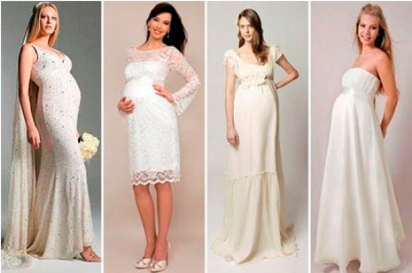 467489 As noivas gestantes devem usar vestidos com poucos bordados e pedrarias para dar elegancia ao visual Roupas de casamento para gestantes