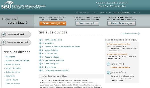 468393 Sisu 2012 2013 inscrições segundo semestre Sisu 2012 2013 inscrições segundo semestre