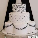 469849 Fotos de bolos artísticos preto e branco 01 150x150 Fotos de bolos artísticos preto e branco