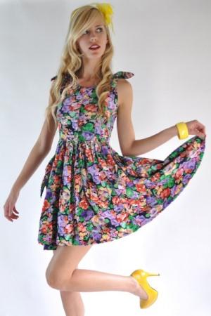 470813 Vestidos floridos curtos Fotos modelos.1 Vestidos Floridos Curtos   Fotos, modelos