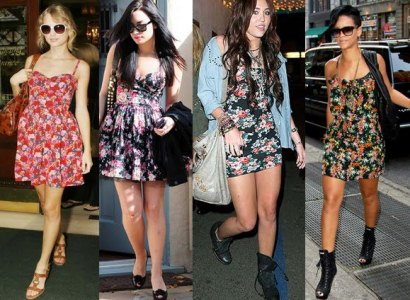 470813 Vestidos floridos curtos Fotos modelos.3 Vestidos Floridos Curtos   Fotos, modelos