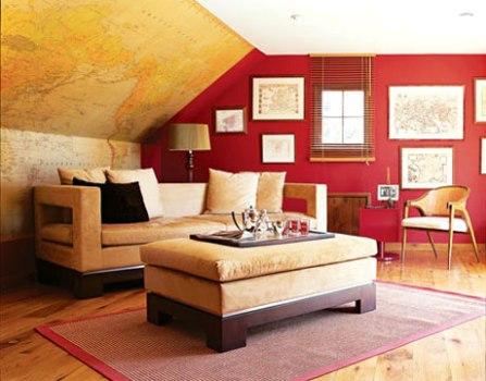 470814 Decoração de Salas Com Parede Vermelha Dicas e Fotos 1 Decoração de salas com parede vermelha   dicas e fotos