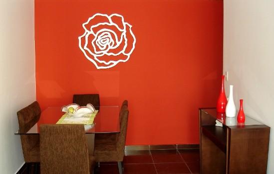 470814 Decoração de Salas Com Parede Vermelha Dicas e Fotos 6 Decoração de salas com parede vermelha   dicas e fotos