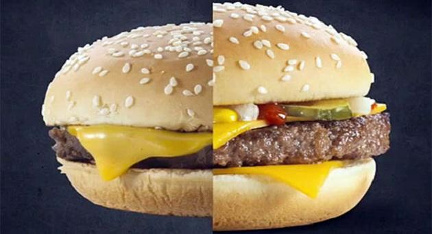 471468 mcdonalds comparacao div 619 McDonalds assume diferença entre sanduíches das lojas e das propagandas