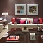 471515 Decoração de sala com parede marrom dicas fotos 10 150x150 Decoração de sala com parede marrom: dicas, fotos