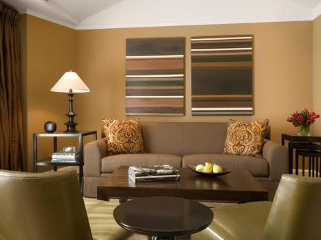 471515 Decoração de sala com parede marrom dicas fotos 2 Decoração de sala com parede marrom: dicas, fotos