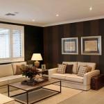 471515 Decoração de sala com parede marrom dicas fotos 8 150x150 Decoração de sala com parede marrom: dicas, fotos
