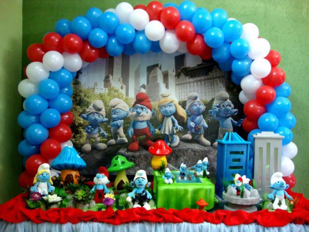 471732 decoração Smurfs 15 Festa com decoração Smurfs: dicas, fotos