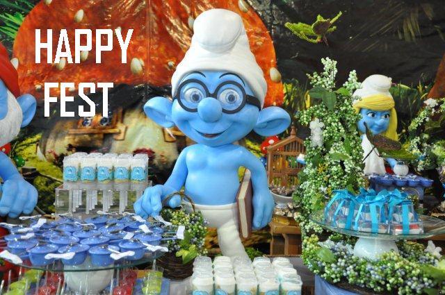 471732 decoração Smurfs 2 Festa com decoração Smurfs: dicas, fotos