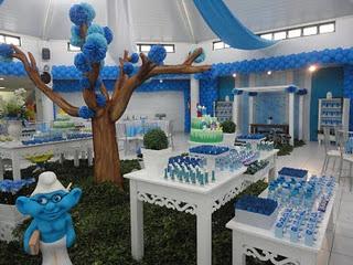 471732 decoração Smurfs 4 Festa com decoração Smurfs: dicas, fotos