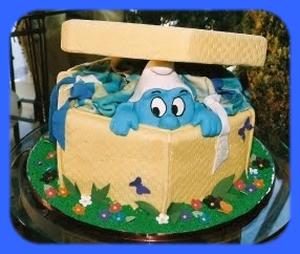 471732 decoração Smurfs 9 Festa com decoração Smurfs: dicas, fotos