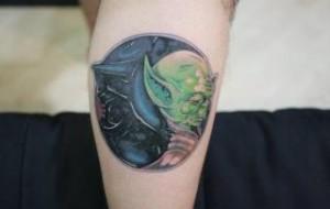Tatuagem de yin yang: fotos