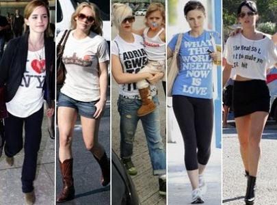 474846 As T shirts com mensagens são as preferidas pelas famosas T shirts: como usar, dicas, fotos