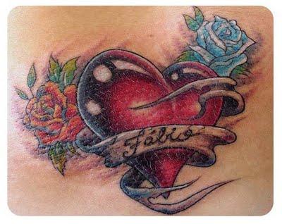 475430 Tatuagem de cora%C3%A7%C3%A3o fotos 01 Tatuagem de coração: fotos