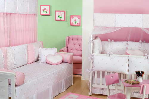 de quarto de bebe feminino10 Decoração de Quarto de Bebê Feminino