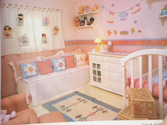de quarto de bebe feminino3 Decoração de Quarto de Bebê Feminino