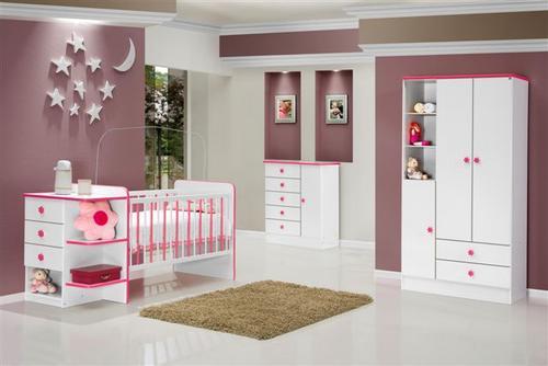 de bebe feminino4 150x150 Decoração de Quarto de Bebê Feminino