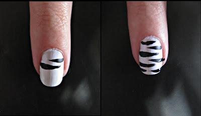 477493 Unhas de Zebra fotos passo a passo2 Unhas de Zebra: fotos, passo a passo