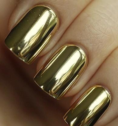 478905 unhas douradas Unhas decoradas para o Natal, passo a passo