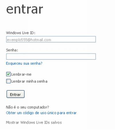480552 senha do msn como trocar 1 Senha do MSN, como trocar