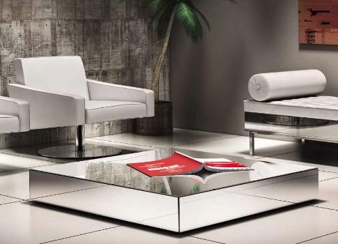 Mesa de centro espelhada modelos pre os for Modelos de mesa de centro