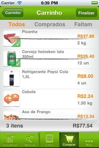 484652 meu carrinho Aplicativos para ajudar nas compras do supermercado