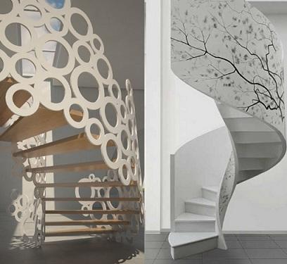 485823 Decoração criativa para a escada ideias Decoração criativa para a escada: ideias