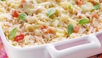 487382 arroz de forno presunto mussarela 2 Arroz de forno com presunto e muçarela