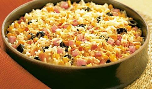 487382 arroz forno presunto mussarela 2 Arroz de forno com presunto e muçarela