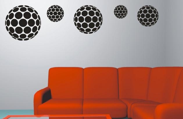 489755 Adesivo de parede decorativo Esferas Adesivo de parede para escritório: dicas, sugestões