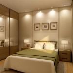 490889 O uso de espelhos e lâmpadas embutidas amplia o quarto. 150x150 Decoração de quarto de casal pequeno, fotos