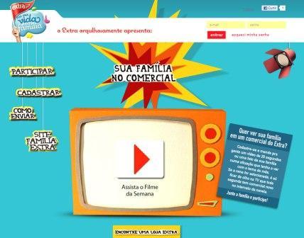 491791 família comercial extra www.familiaextra.com.br, enviar vídeos