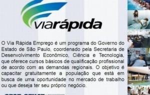 Cursos gratuitos Taboão da Serra 2012 – Via rápida